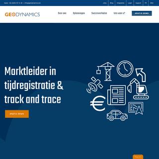 Marktleider inzake mobiele tijdregistratie - GeoDynamics