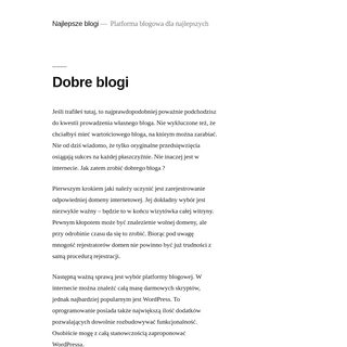 Najlepsze blogi - Platforma blogowa dla najlepszych
