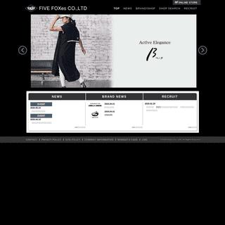 FIVE FOXes(ファイブフォックス)公式サイト