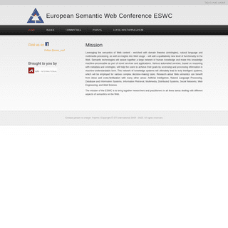 European Semantic Web Conference ESWC - Welcome to ESWC - the Extended Semantic Web Conference