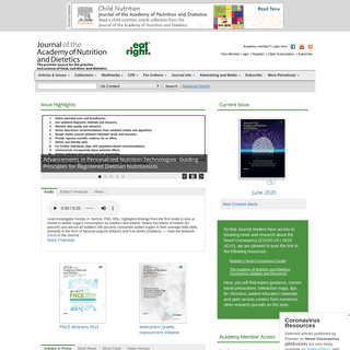 Home Page- Journal of the Academy of Nutrition and Dietetics