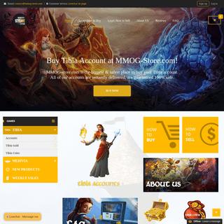 Tibia Store - Tibia Accounts - Tibia Gold - Tibia Coins - MMOG-Store