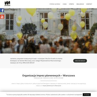 Kompleksowa organizacja imprez plenerowych - Mrucon Events Warszawa