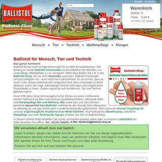Ballistol Shop - Universal Öl und Spray Versand