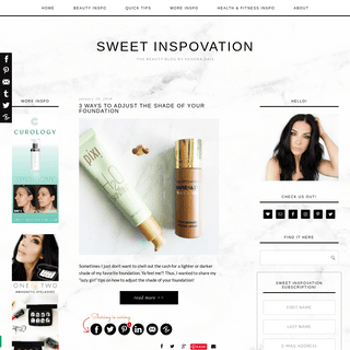 Sweet Inspovation - The Beauty Blog by Kendra Dais