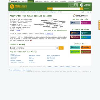 MalaCards - human disease database