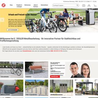 ▷ Außenanlagen & Stadtmöbel vom Profi - ZIEGLER METALL