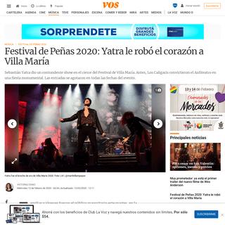 Festival de Peñas 2020- Yatra le robó el corazón a Villa María - VOS