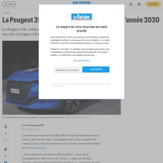 La Peugeot 208 élue voiture européenne de l'année 2020 - Le Parisien
