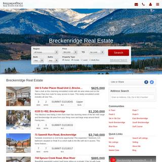 Breckenridge Real Estate - Homes For Sale