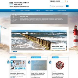 Helmholtz-Zentrum Geesthacht Zentrum für Materialforschung und Küstenforschung