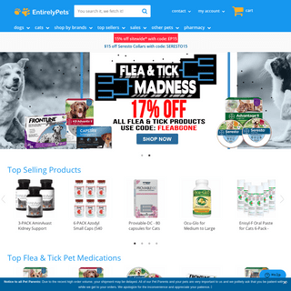 EntirelyPets - Pet Products - Top Flea & Tick, Joint Supplements