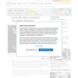 ArchiveBay.com - www.nieuwsblad.be/cnt/dmf20200220_04857912 - Lana Del Rey annuleert Europese tournee - Het Nieuwsblad