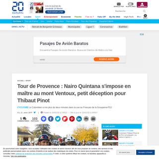 Tour de Provence - Nairo Quintana s'impose en maître au mont Ventoux, petit déception pour Thibaut Pinot