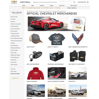ArchiveBay.com - chevymall.com - Official Chevrolet Licensed Merchandise, Apparel, Collectibles, Accessories - ChevyMall