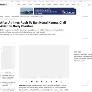 Kunal Kamra Ban- After Airlines Rush To Ban Comedian Kunal Kamra, Civil Aviation Body Clarifies