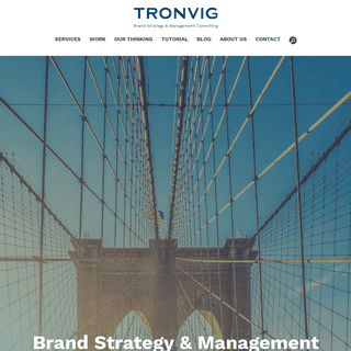Tronvig- Brand Strategy, Management Consulting, Advertising