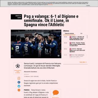 Coppa di Francia e Coppa del Re- Digione-Psg 1-6, Athletic-Granada, Lione-Marsiglia - La Gazzetta dello Sport - Tutto il rosa de
