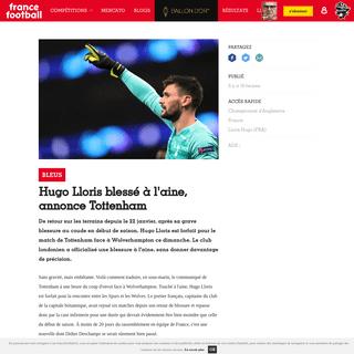 Bleus - Hugo Lloris blessé à l'aine, annonce Tottenham - France Football