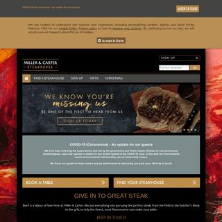 Miller & Carter Steakhouse Restaurants - Steak Experts