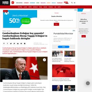 Cumhurbaşkanı Erdoğan kaç yaşında- Cumhurbaşkanı Recep Tayyip Erdoğan'ın hayatı hakkında detaylar - Gündem Haberler