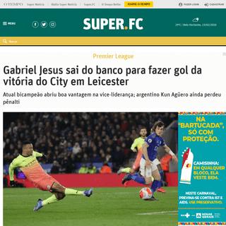 Gabriel Jesus sai do banco para fazer gol da vitória do City em Leicester - SUPERFC