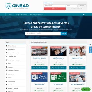GINEAD - Cursos Online Grátis de Qualidade → Certificado Válido ←