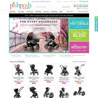 PishPoshBaby.com - Luxury Strollers, Car Seats, & Nursery Bedding For the Trendy mom- Free Shipping!