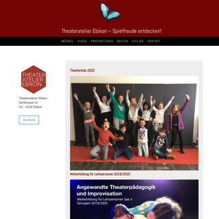 Theaterkids 2020 - theateratelierebikons Webseite!