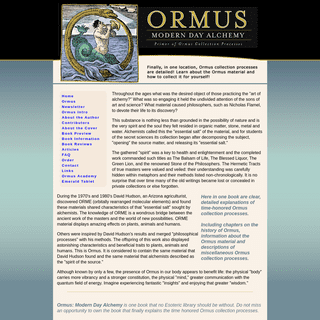 The Official Ormus Book, ORMUS Modern Day Alchemy