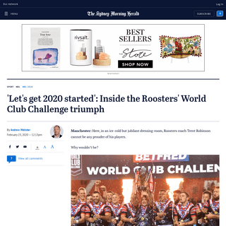 ArchiveBay.com - www.smh.com.au/sport/nrl/let-s-get-2020-started-inside-the-roosters-world-club-challenge-triumph-20200223-p543gy.html - NRL World Club Challenge 2020- Inside Sydney Roosters' triumph over St Helens