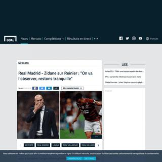 Real Madrid - Zidane sur Reinier - -On va l'observer, restons tranquille- - Goal.com