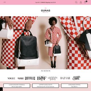 Vegan Leather Handbags, High Fashion. Zero Cruelty™ – Gunas New York