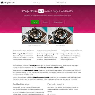 ImageOptim HTTP API for optimization on web servers