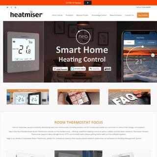 Room Thermostat & Underfloor Heating Controls - Heatmiser