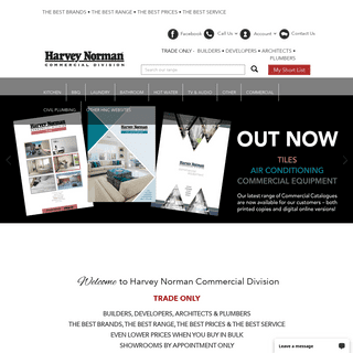 Harvey Norman Commercial Division - Best and Biggest Harvey Norman Division, Huge Range of Kitchen & Cookings, Ovens, Laundary,