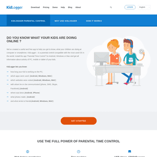 Kidlogger - free parental control app for Android, Windows and Mac