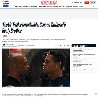 'Fast 9' Trailer Unveils John Cena as Vin Diesel's Beefy Brother