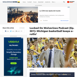 Locked on Wolverines podcast Michigan basketball win XFL football