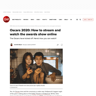 Oscars 2020- How to stream and watch the awards show online - CNET