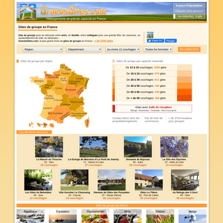 Gite de groupe, gites de grande capacité en France