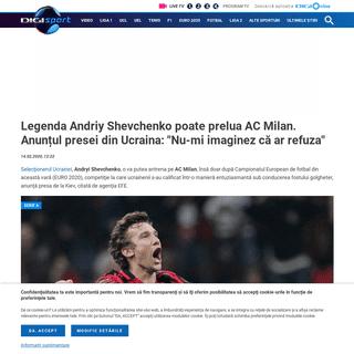 Legenda Andriy Shevchenko poate prelua AC Milan. Anunțul presei din Ucraina- -Nu-mi imaginez că ar refuza-