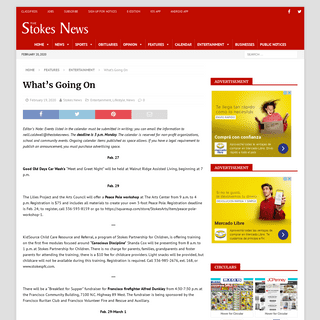 What's Going On - The Stokes News