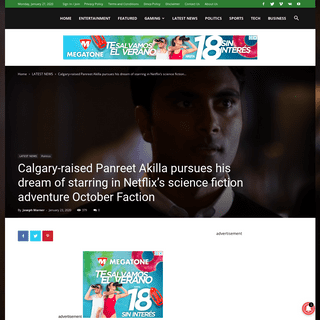 Calgary-raised Panreet Akilla pursues his dream of starring in Netflix's science fiction adventure October Faction - The Media T