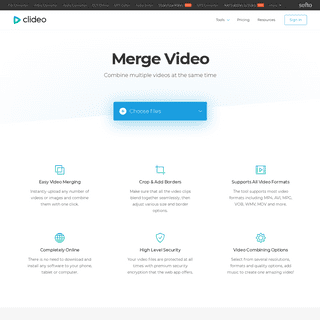 Merge Video Online — Combine Video Clips — Free Video Joiner — Clideo