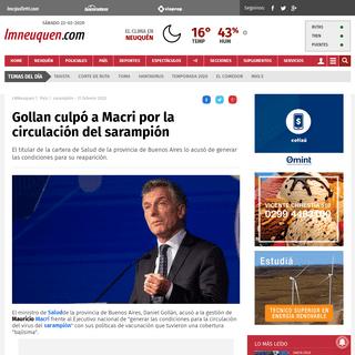 Gollan culpó a Macri por la circulación del sarampión - sarampión, Salud, Macri