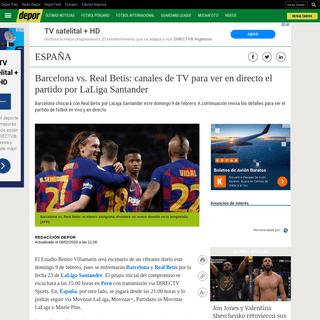Barcelona vs. Real Betis EN VIVO- canales de TV para ver EN DIRECTO el partido por LaLiga Santander - VER DIRECTV Sports EN VIVO