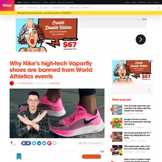 Why Nike's high-tech Vaporfly shoes are banned from World Athletics events