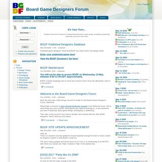 Board Game Designers Forum - Board Game Designers Forum