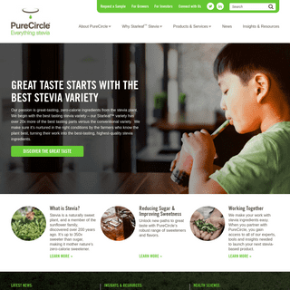 Homepage - Leading Producer and Marketer of Pure Stevia Extract